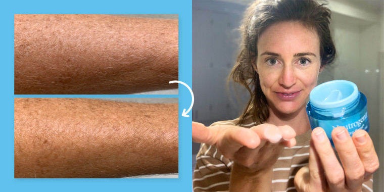 woman showcasing neutrogena water gel