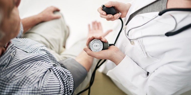 Your blood pressure is a little high...
