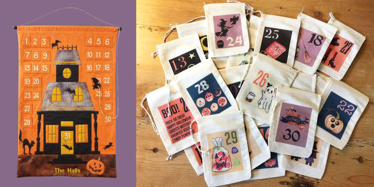 halloween advent calendars candy bags