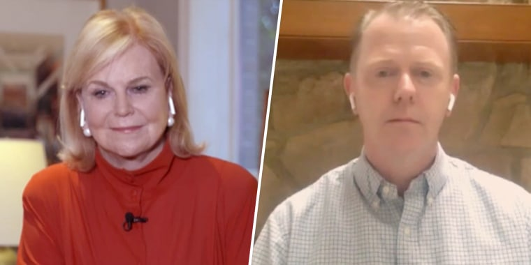 Carol Marin, a political editor for NBC 5 in Chicago, and Brendan Duke, a former New York City police officer. The two spoke for the first time in 19 years on Friday morning.