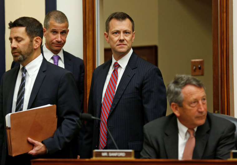 Image: FBI Deputy Assistant Director Peter Strzok testifies before joint House hearing on Capitol Hill in Washington