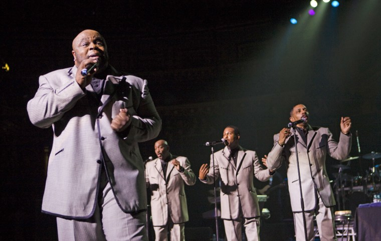 From left, Bruce Williamson, Otis Williams, Terry Weeks and Ron Tyson of the Temptations perform in 2007.