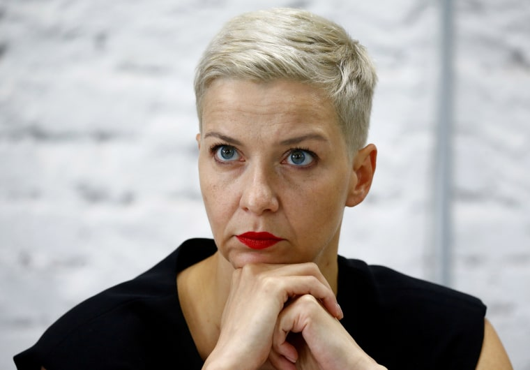 Image: Politician and representative of the Coordination Council for members of the Belarusian opposition Maria Kolesnikova attends a news conference in Minsk, Belaru