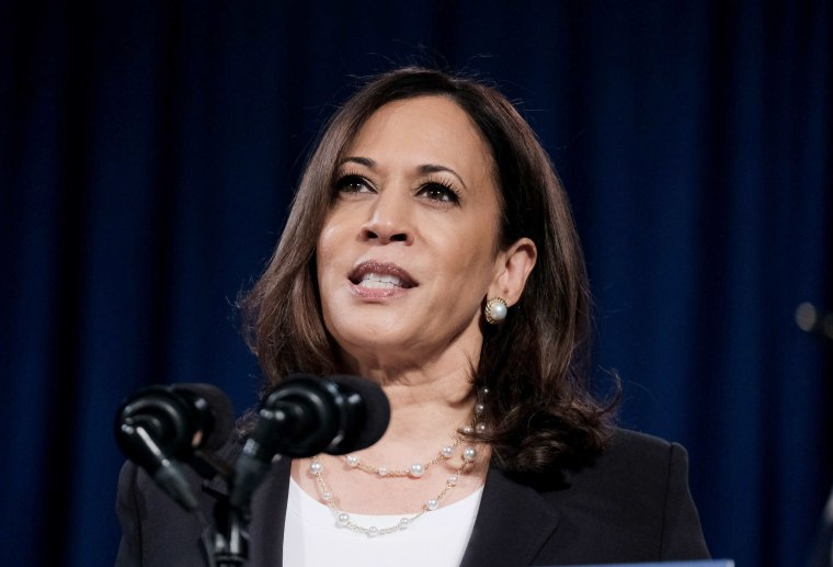 Image: Democratic Vice Presidential nominee Sen. Kamala during a campaign event on Aug. 27, 2020 in Washington, DC.