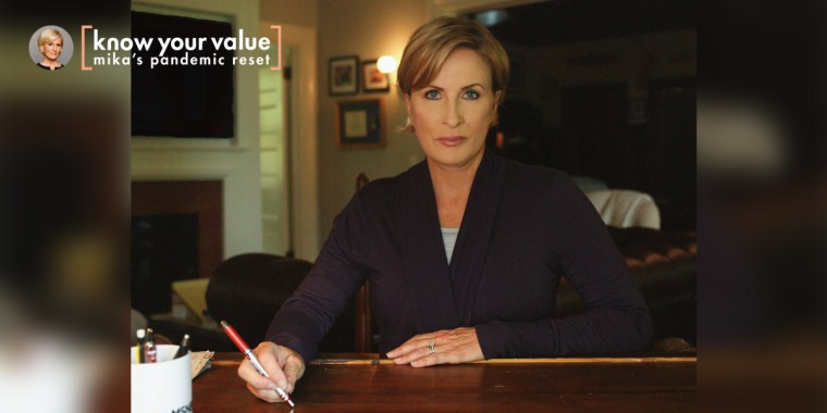"""Know Your Value founder and """"Morning Joe"""" co-host Mika Brzezinski demonstrates what good Zoom posture, lighting and background looks like."""