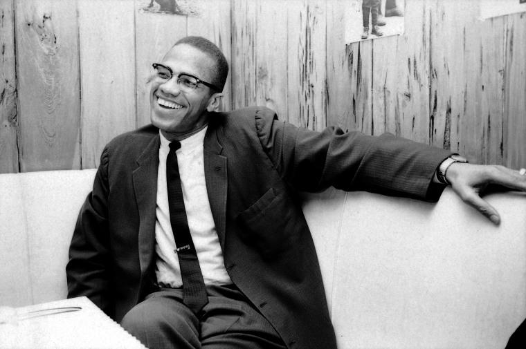 Radical black activist Malcolm X