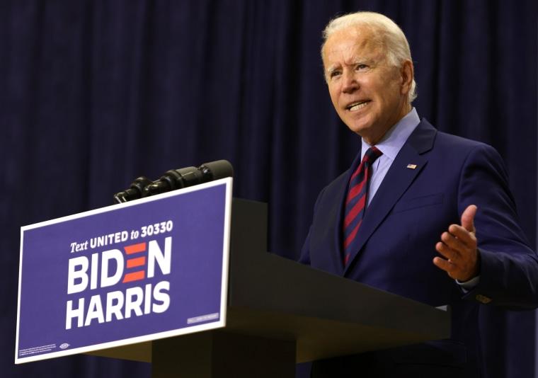 Image: Democratic Presidential Nominee Joe Biden Speaks In Wilmington, Delaware