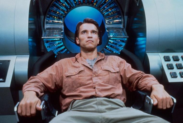 "Arnold Schwarzenegger in ""Total Recall"" in 1990."