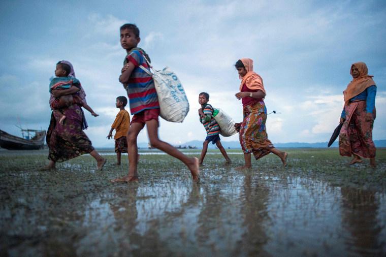 Image: BANGLADESH-MYANMAR-UNREST-REFUGEE