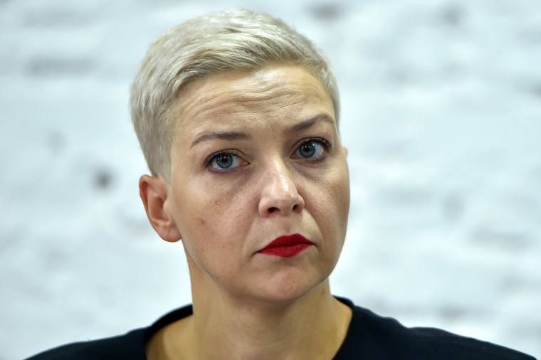Image: Opposition figure Maria Kolesnikova, a member of the Coordination Council formed by the opposition to oversee efforts for a peaceful transition of power