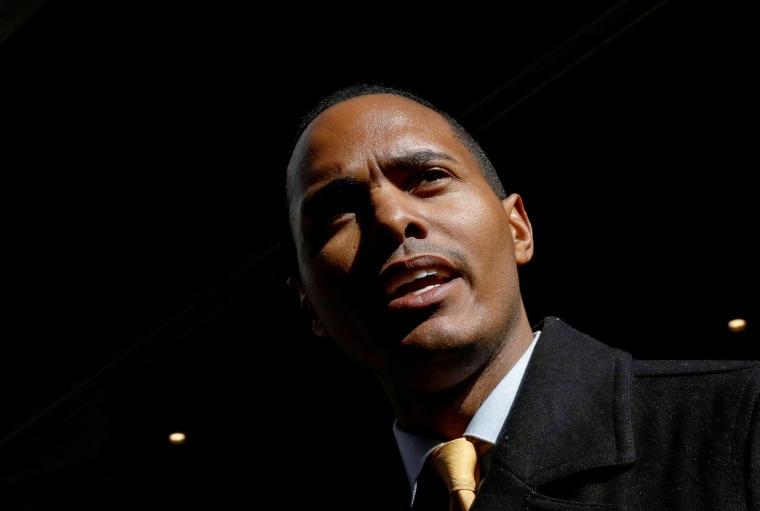 Image: Ritchie Torres during a news conference in New York