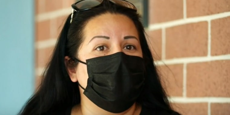 Image: Elvira Espino does not have health insurance and normally goes to the Mexican side of the border to buy medicine at a good price.
