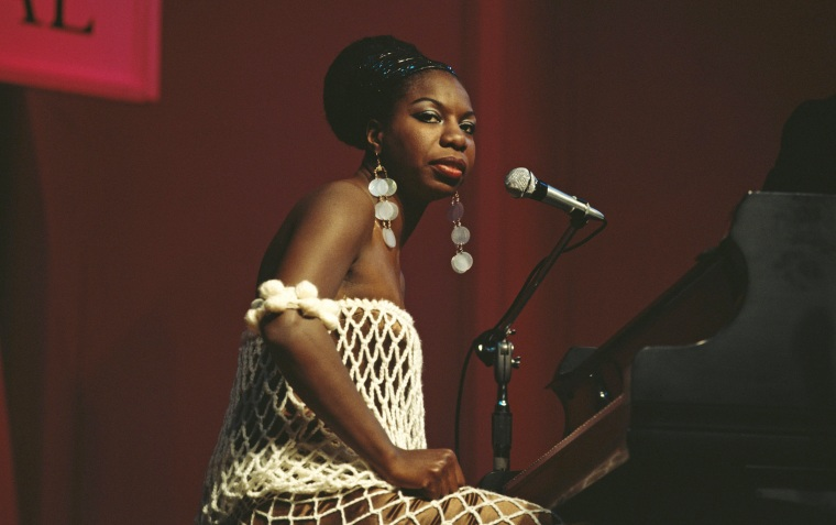 Image: American singer, songwriter, pianist and civil rights activist Nina Simone performs live on stage at Newport Jazz Festival.