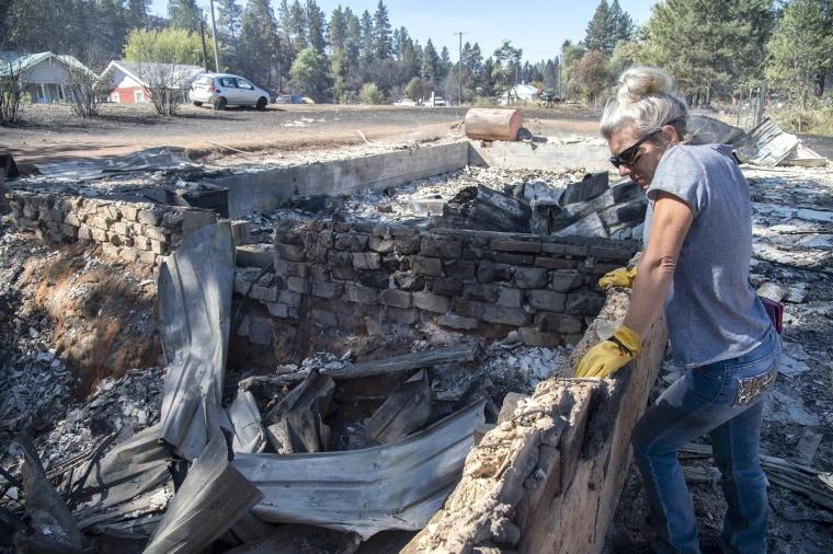 Image: Malden Washington wildfire aftermath