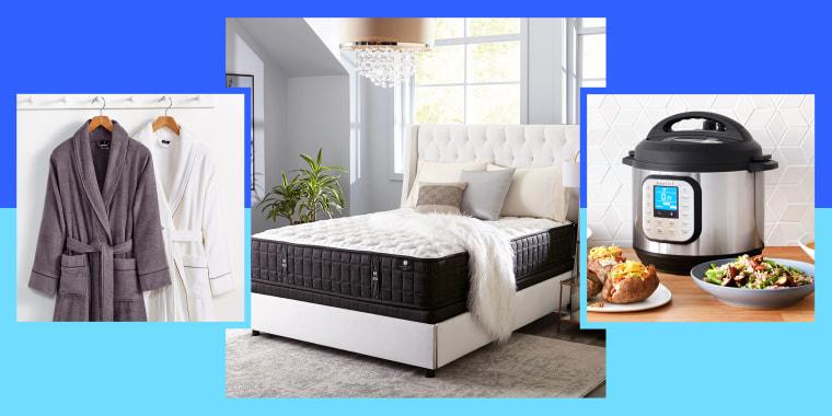 Sale items at Macys including bathrobes bedding mattress instant pot cooker