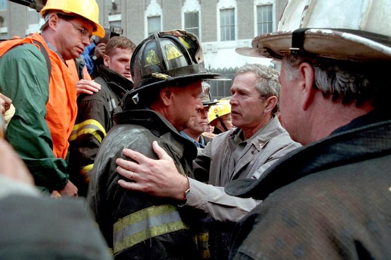 President Bush Visits New York