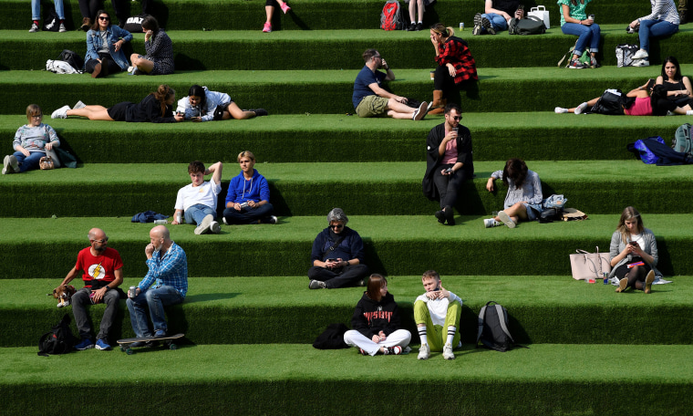 Image: An outdoor seating area in London