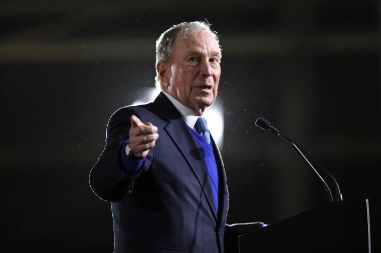 Former New York City mayor Mike Bloomberg speaks in Blountville, Tenn., on Feb. 28, 2020.