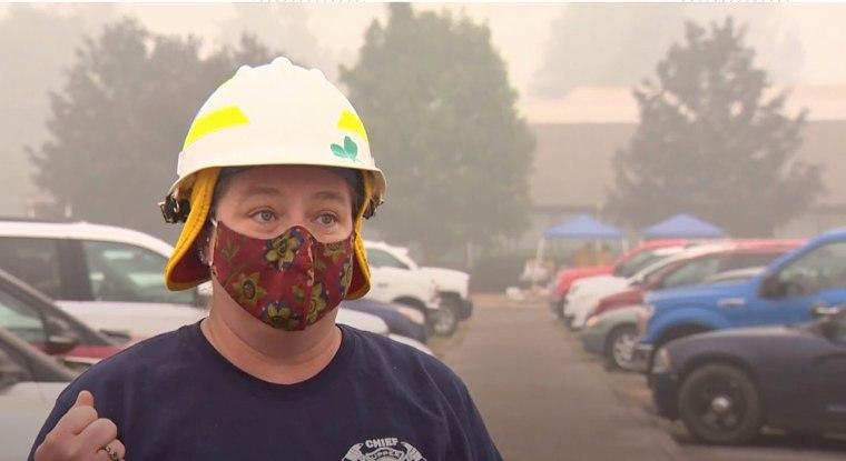 Upper McKenzie Rural Fire Chief Christiana Rainbow Plews.