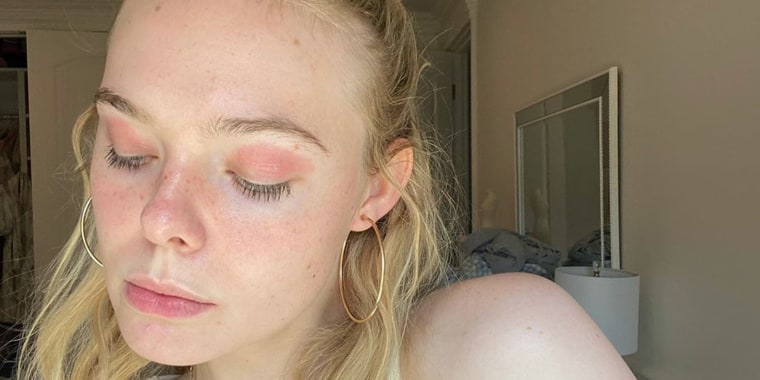Showing off her pink eyelids on Instagram, Elle Fanning called attention to her skin condition during National Eczema Week in September.