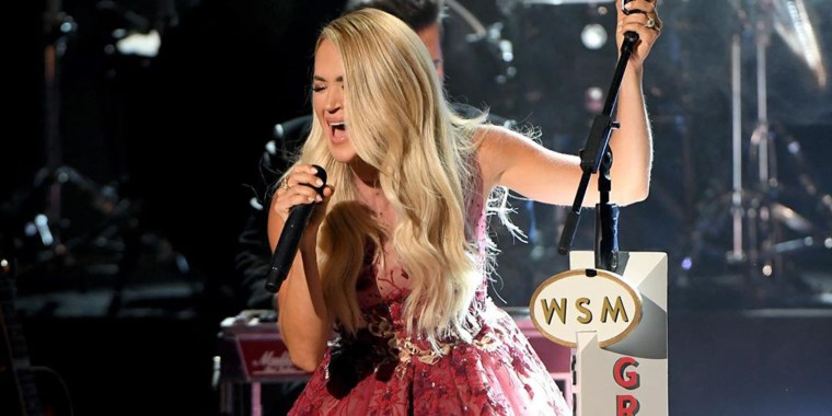 Underwood performs at the American Country Music Awards on Sept. 16, 2020.