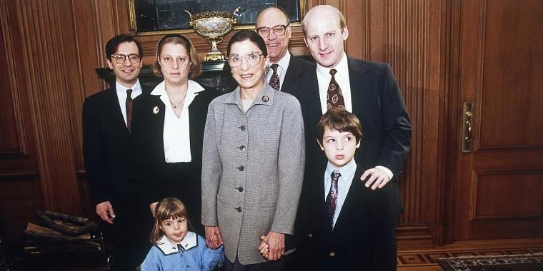 Ruth Bader Ginsburg, George Spera, Jane Ginsburg, Martin Ginsburg, James Ginsburg, Clara Spera, Paul Spera
