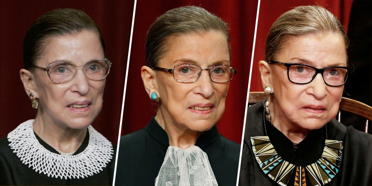Ginsburg was well-known for her fashion sense and love for jabots.