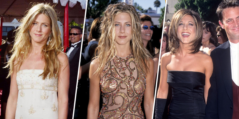 Here, we look back on some of our favorite Jennifer Aniston Emmys' red carpet moments from the last 25 years.