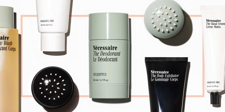 Necessaire deodorant body wash lotion exfoliator. Necessaire products such as Necessaire body wash, deodorant, hand cream, body lotion, body serum are worth the cost and can be bought at Sephora, Nordstrom, Violet Grey, Goop, Shen Beauty in Brooklyn.