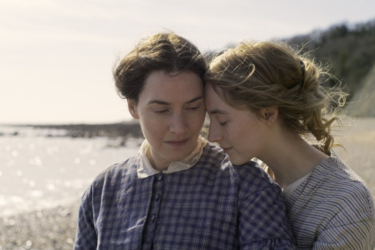 Image: Kate Winslet and Saoirse Ronan in Ammonite.
