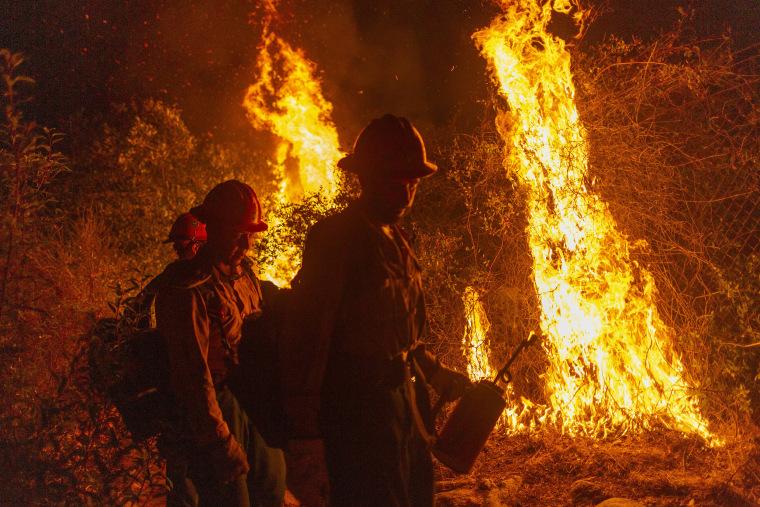 Image: Bobcat Fire Burns East Of Los Angeles