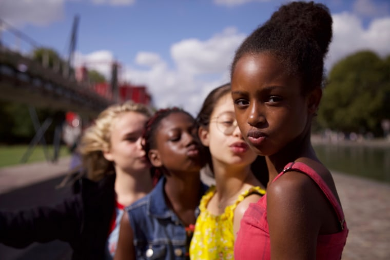 """""""Cuties,"""" is a sweet-spirited French coming-of-age drama about Amy, an 11-year-old Muslim girl in Paris looking for friendship among the competitive dancers in her class at school."""