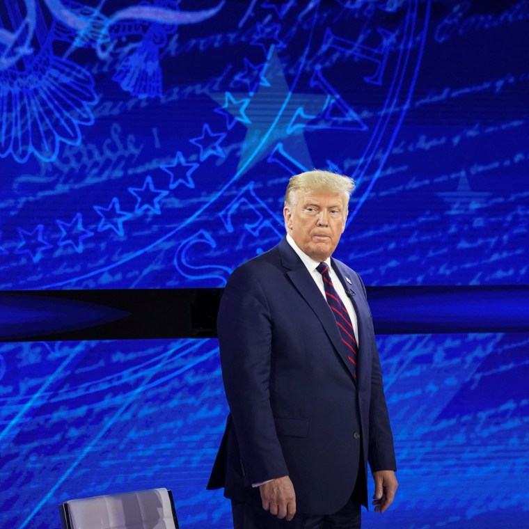 Image: Trump attends ABC News town hall in Philadelphia, Pennsylvania
