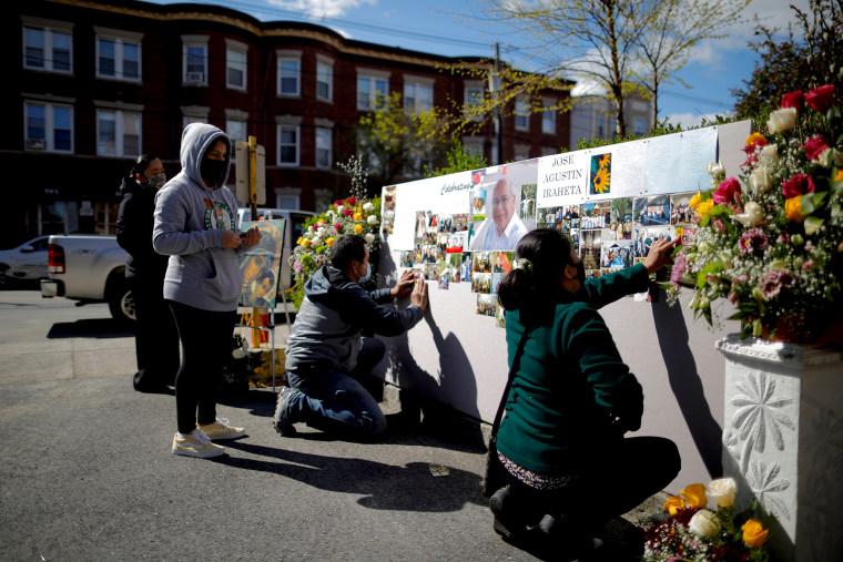IMAGE: Memorial service in Massachusetts