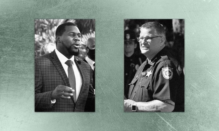 Alton Edmond, left, is challenging Sheriff Wayne Ivey in Brevard County, Florida.
