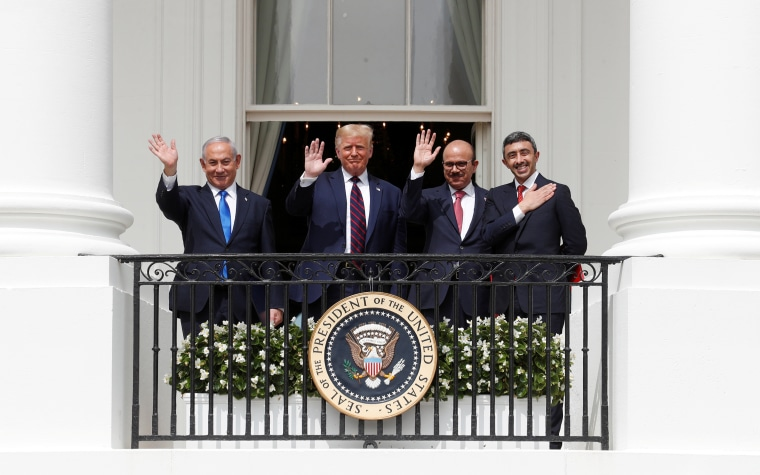 Image: U.S. President Trump hosts leaders for Abraham Accords signing ceremony at the White House in Washington