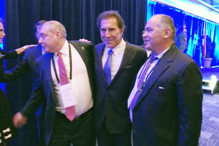 Parnas with casino magnate Steve Wynn and Russian oligarch Farkhad Akhmedov at an RNC event on March 4, 2017.
