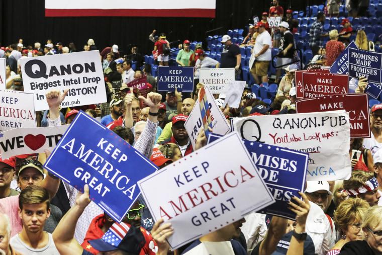 QAnon at Trump Rally