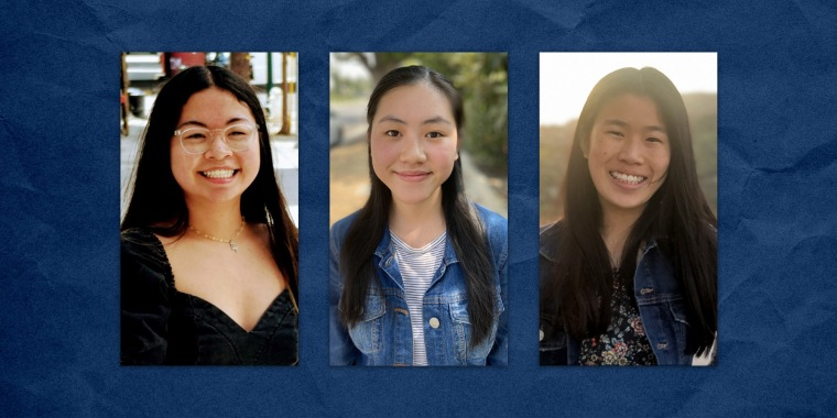 Beth Yeung, Rebecca Wu and Amanda Young are interns with the Stop AAPI Hate Youth Campaign, which interviewed nearly 1,000 young Asian American adults across the country about their experiences with racism during the coronavirus pandemic.