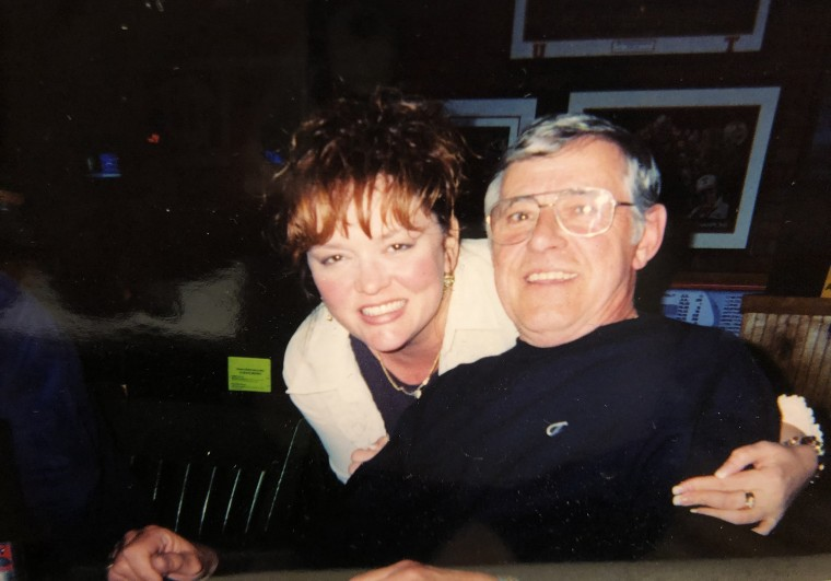 Nicole Hutcherson with her father, Frank M. Carter.