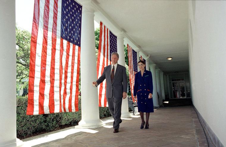 Image: Bill Clinton, Ruth Bader Ginsburg Walt