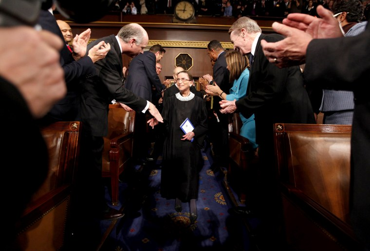 Image: Justice Ginsburg arrives for Obama's primetime address to a joint session of Congress in Washington