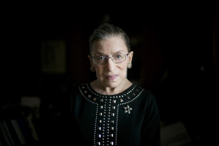 Supreme Court Justice Ruth Bader Ginsburg in Washington.