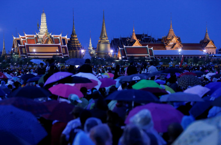 Image: Pro-democracy protesters attend a mass rally in Bangkok