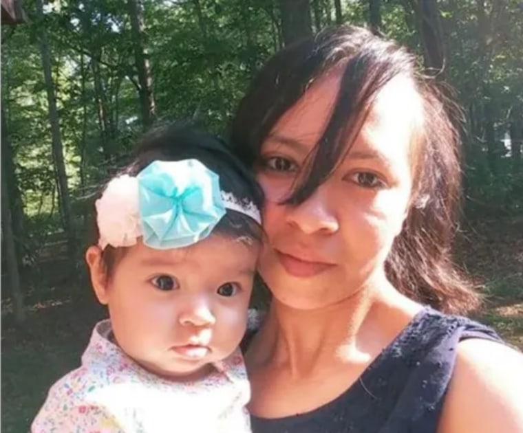 Nancy Troche Garcia and her baby, Natalia.