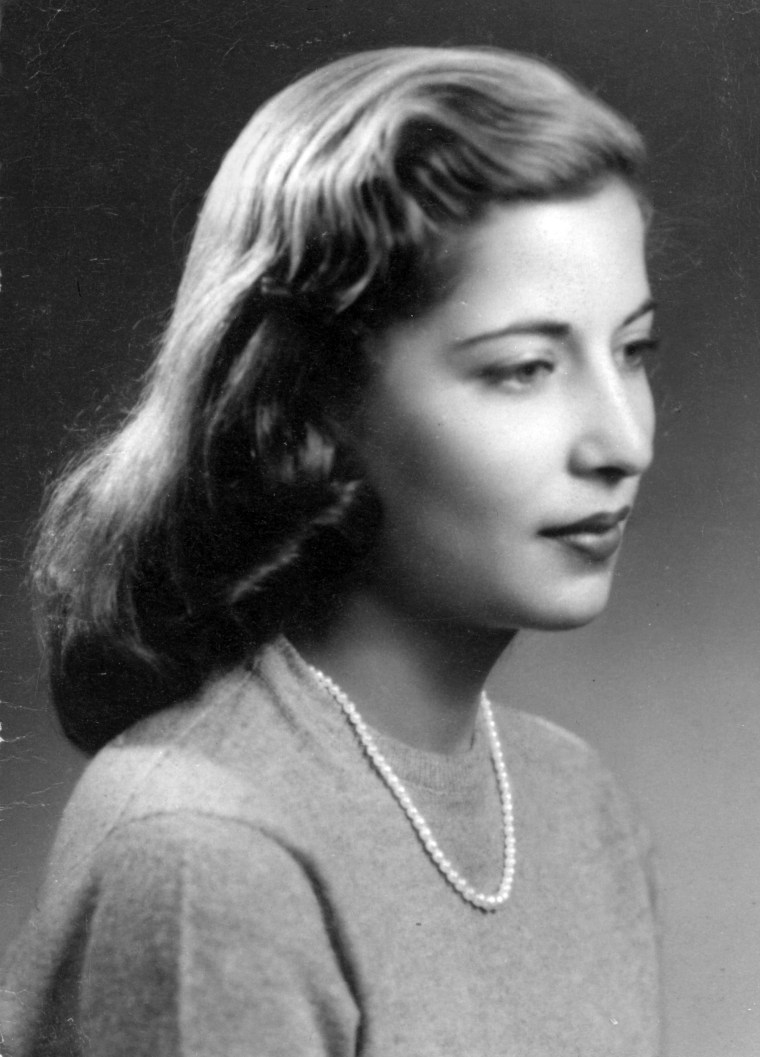 Ruth Bader Ginsburg's engagement photograph, while a senior at Cornell University in December 1953.