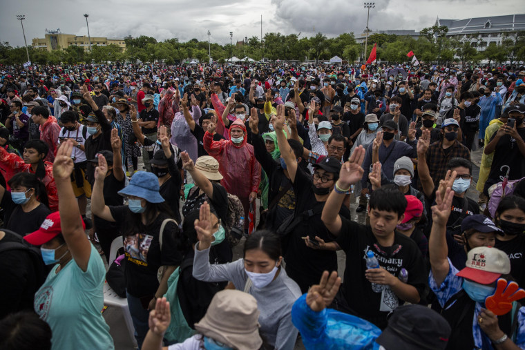 Image: Thousands Gather For Anti-Governent Demonstrations In Bangkok