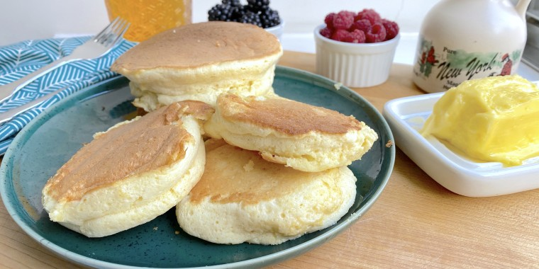 The secret to the lightest, airiest soufflé pancakes is in the egg whites.