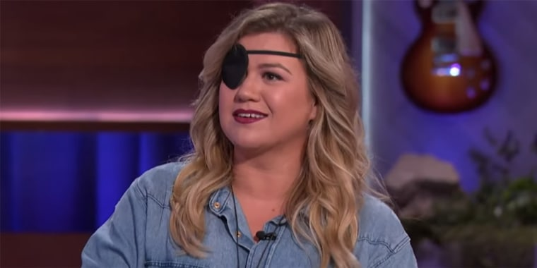 Clarkson maintained her sense of humor while talking about her eye patch.
