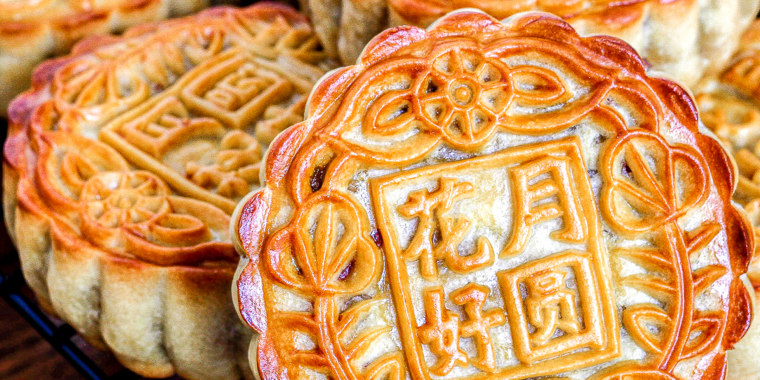 Food blogger Suzanne Nuyen makes baked mooncakes like these with her family every year in the fall.